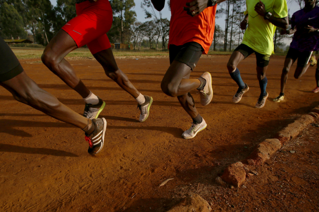 Des athlètes kényans à l'entraînement.... (Photo Siegfried Modola, archives Reuters)