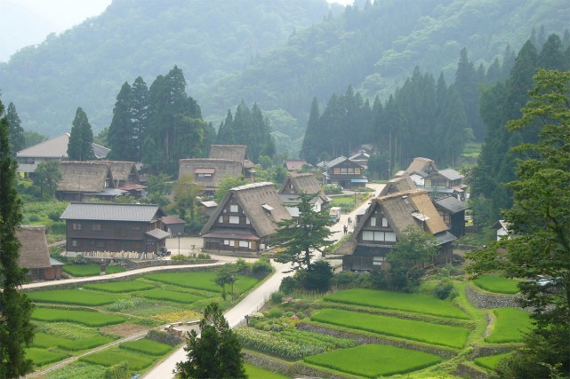 Aperçu de Gokoyama, au Japon.... (PHOTO FOURNIE PAR WIKIPEDIA)