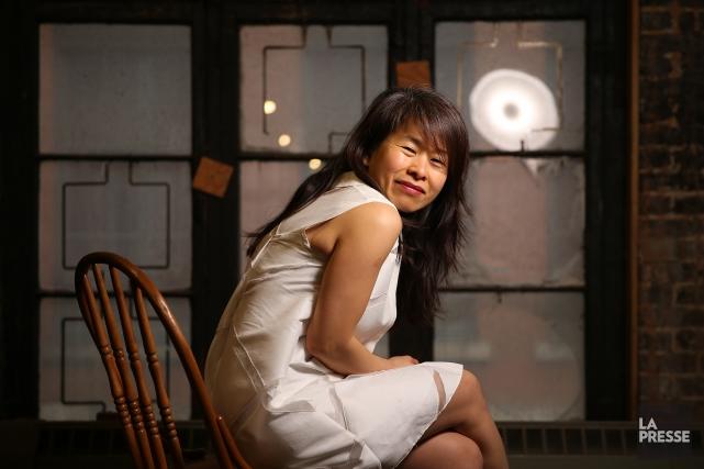 Pour la première fois, Kim Thúy a travaillé... (PHOTO MARTIN CHAMBERLAND, LA PRESSE)