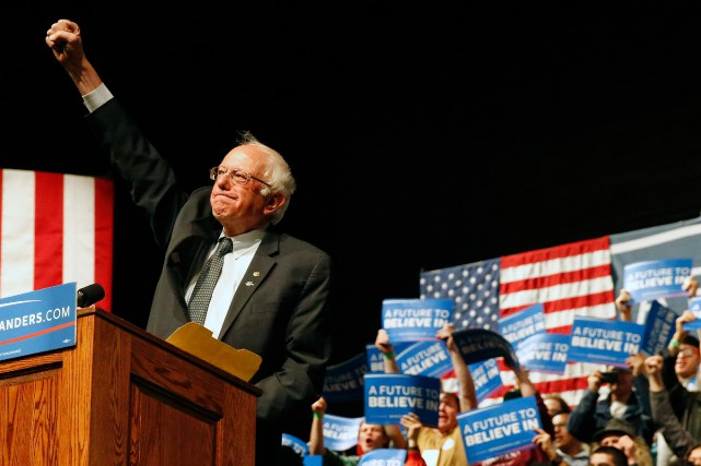 Bernie Sanders, qui se décrit lui-même comme un... (PHOTO BRENNAN LINSLEY, ASSOCIATED PRESS)