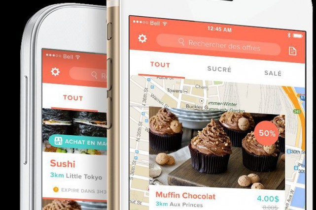 L'application Ubifood propose une interface et une navigation claire.... (Photo ubifood.ca)