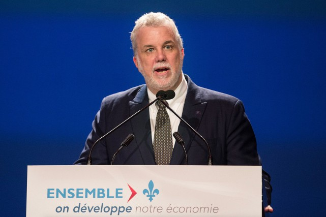 Le premier ministre Philippe Couillard se trouvait à... (La Presse Canadienne, Graham Hughes)