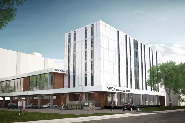 Le futur bâtiment du YWCA sera divisé en... (Image fournie par L'Alliance AB + STGM)
