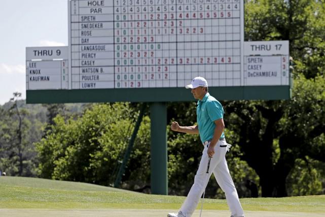 Jordan Spietha réussi trois birdies en première moitié... (Associated Press)