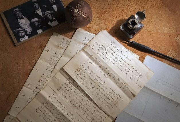 Datant de 1857, les documents intitulés Règles du... (AP, Leslie Larsen Bird)