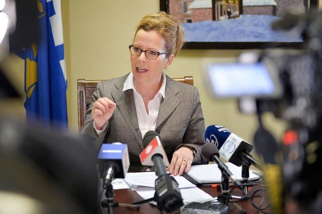 La conseillère Anne Guérettese demande pourquoi l'administration Labeaume... (Photothèque Le Soleil, Pascal Ratthé)