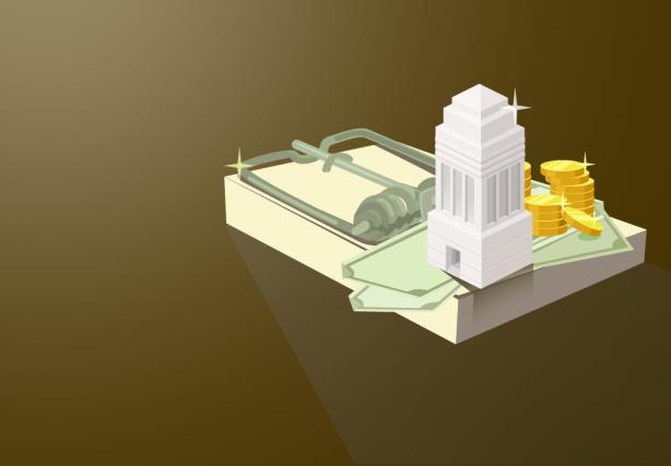 Une première banque canadienne a été pénalisée en... (Illustration La Presse)