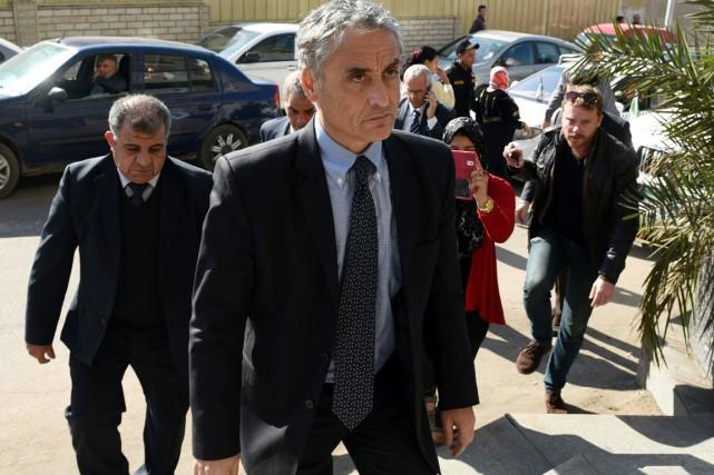 L'ambassadeur italien au Caire Maurizio Massari.... (PHOTO MOHAMED EL-SHAHED, ARCGHIVES AFP)