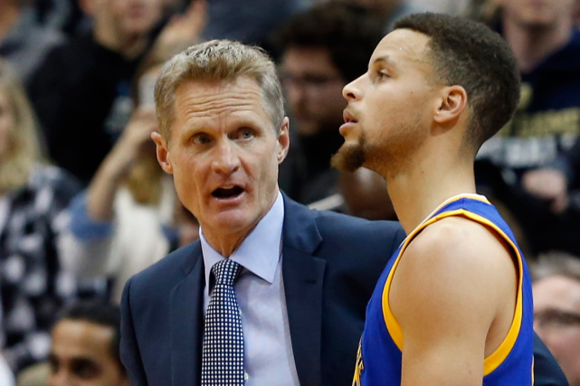 L'entraîneur des Warriors de Golden State, Steve Kerr,... (Photo Jim Mone, archives AP)
