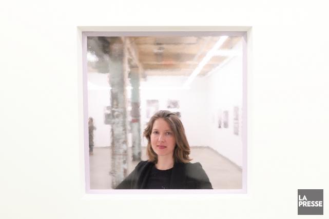 Lorna Bauer, à la Fonderie Darling, près des... (PHOTO BERNARD BRAULT, LA PRESSE)
