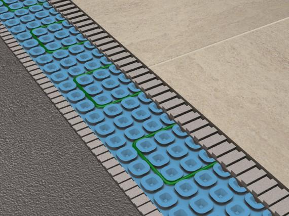 Les technologies de planchers chauffants utilisent la masse... (Flextherm)