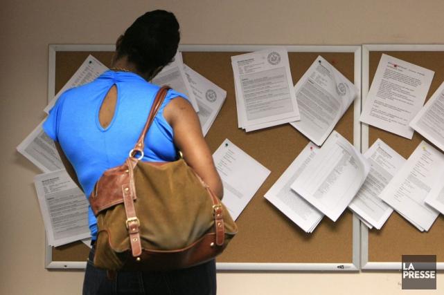 Le marché de l'emploi a connu de légers ennuis en mars dans la région de la... (Archives, Associated Press)