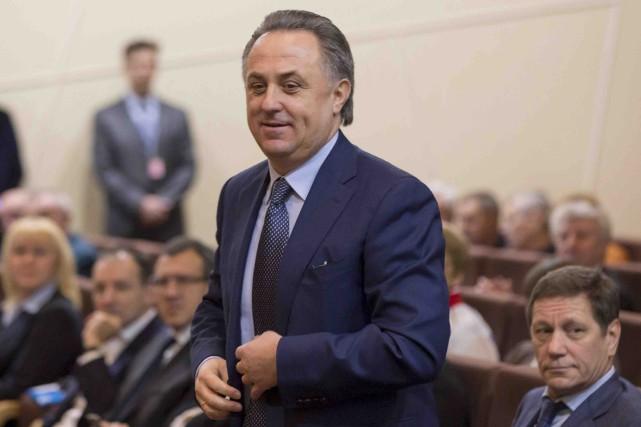 Le ministre russe des Sports, Vitaly Mutko, a... (Archives AP, Pavel Golovkin)