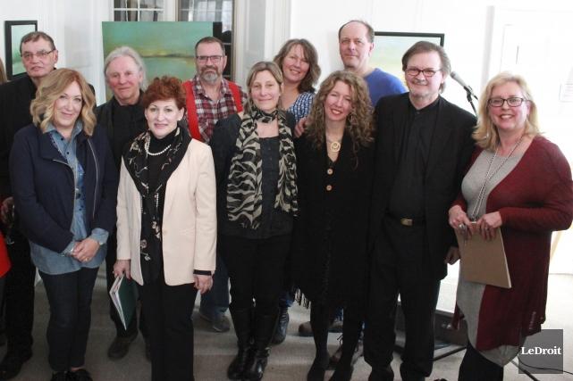 Plusieurs artistes étaient sur place à l'occasion du... (Martin Brunette, LeDroit)