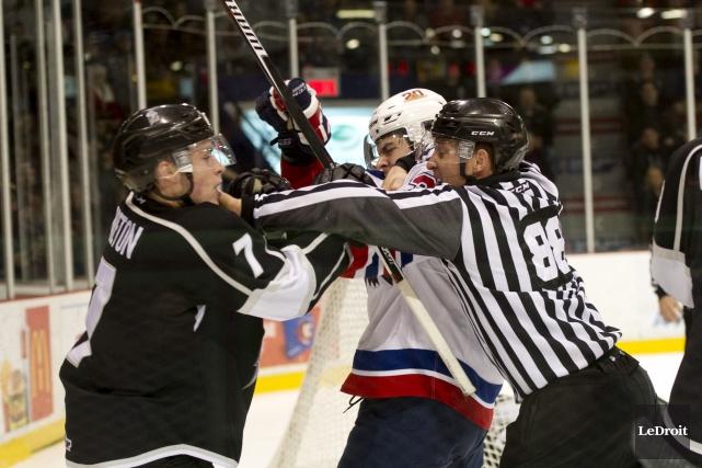Les Olympiques se sont inclinés 3-1 face aux... (Martin Roy, LeDroit)