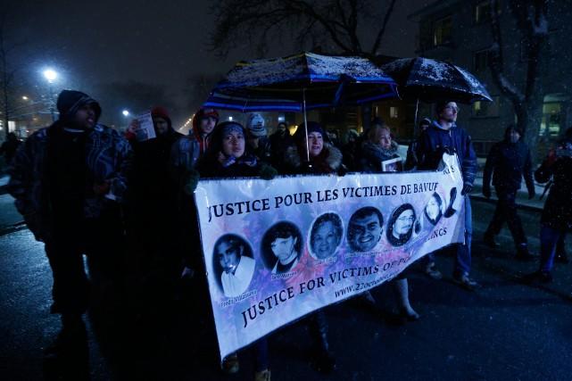 Une marche à la mémoire de Fredy Villanueva... (PHOTO OLIVIER JEAN, LA PRESSE)