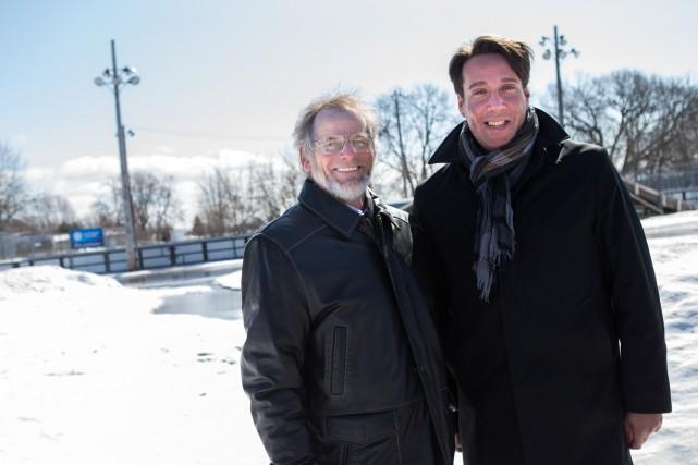 Michel Isabelle, maire de Yamachiche, et Marc H.... (Olivier Croteau)
