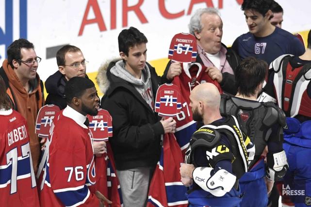 Le Canadien a remercié les spectateurs tout au... (La Presse, Bernard Brault)