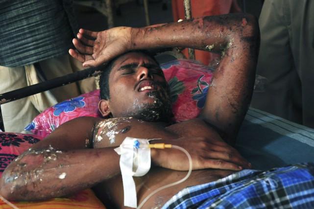 Des centaines de personnes ont été blessées, pour... (AFP)