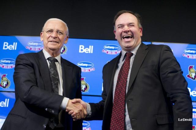 Pierre Dorion (à droite) remplaceraBryan Murray comme dg... (Martin Roy, LeDroit)