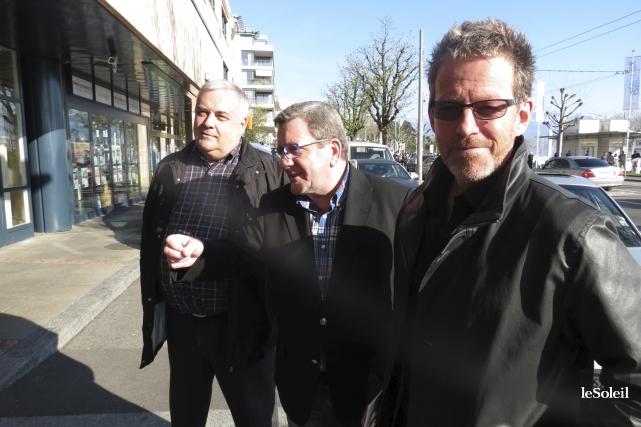 Le maire de Québec, Régis Labeaume, est à... (Le Soleil, Valérie Gaudreau)