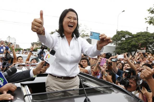 Favorite depuis des mois,Keiko Fujimorimise sur un ambitieux... (PHOTO AFP)
