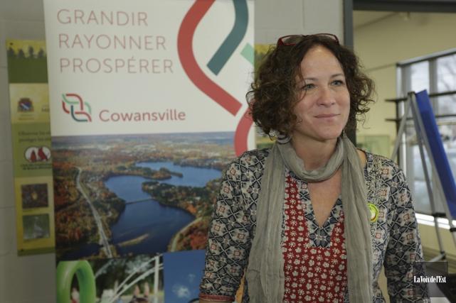 Coorganisatrice de l'événement, Isabelle Gariépy était satisfaite de... (Catherine Trudeau, La Voix de l'Est)