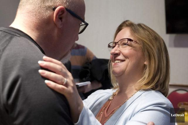 Sylvie Goneau a annoncé ses intentions, samedi.... (Martin Roy, LeDroit)