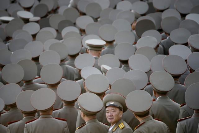 Des vétérans de l'armée nord-coréenne sont réunis peu... (PHOTO MAYE-E WONG, ARCHIVES AP)
