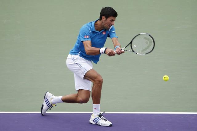 Novak Djokovic trône au sommet du classement.... (PHOTO GEOFF BURKE, ARCHIVES USA TODAY)