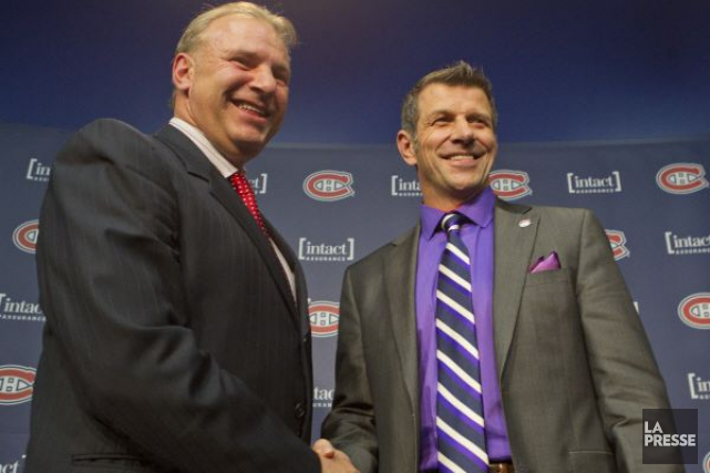 Michel Therrien et Marc Bergevin.... (PHOTO IVANOH DEMERS, ARCHIVES LA PRESSE)
