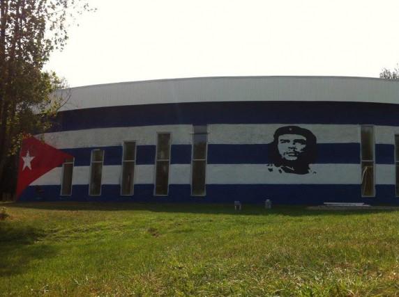 Le terrain de 275acres qui faisait office de lieu de rassemblement pour le... (Photo tirée de Facebook)