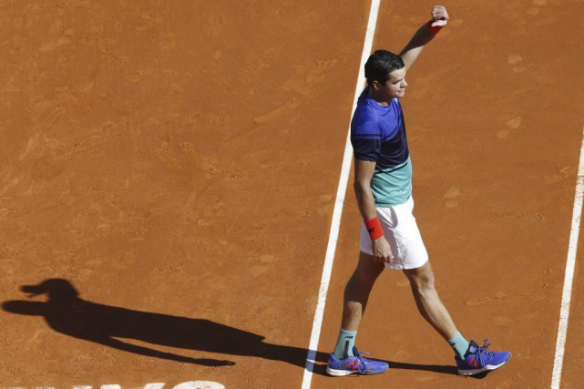 Milos Raonic... (Photo Valery Hache, Agence France-Presse)