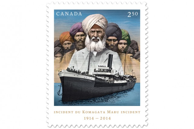 Un timbre montrant le Komagata Maru a été... (PHOTO ARCHIVES LA PRESSE CANADIENNE)