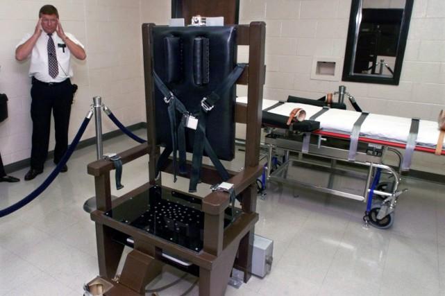 Une chaise électrique utilisée dans le Tennessee.... (Photo AFP)