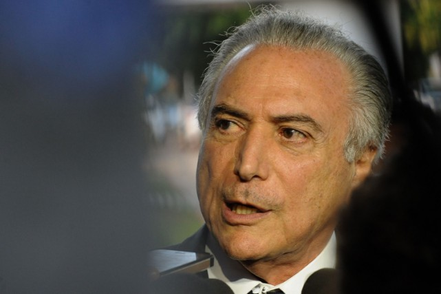 Michel Temer... (PHOTO AFP)