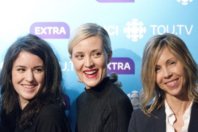Évelyne Brochu et Virginie Fortin (à gauche), ici... (Fournie par ICI Radio-Canada Télé)