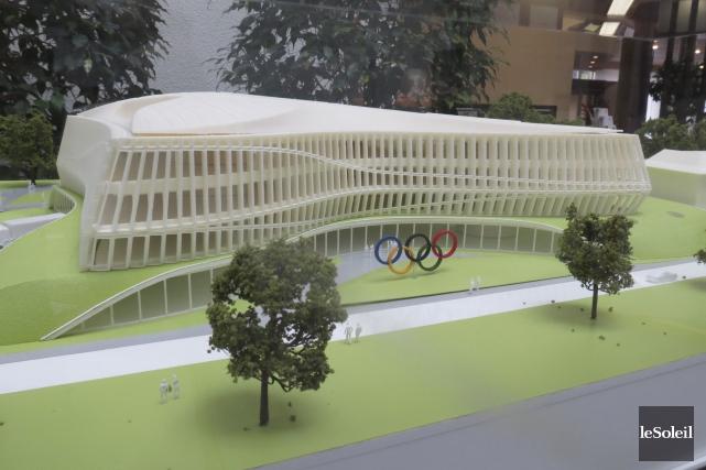 L'architecture de la Maison de l'unité olympique, qui... (Le Soleil, Valérie Gaudreau)