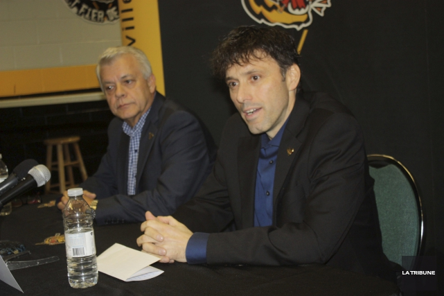 Le président des Tigres de Victoriaville, Johnny Izzi,... (La Tribune, Yanick Poisson)