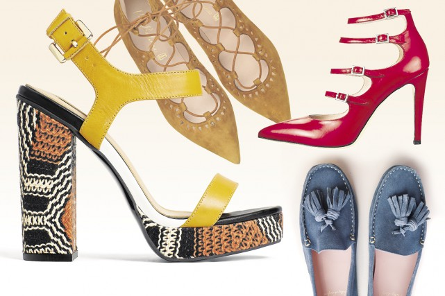 Sandale plateforme Joann deAldo, 100 $; ballerines lacées...