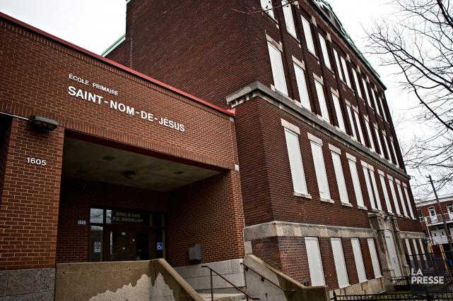 L'écoledésaffectée Saint-Nom-de-Jésus, dans Hochelaga-Maisonneuve, accueillera des élèves du... (PHOTO PATRICK SANFAÇON, LA PRESSE)