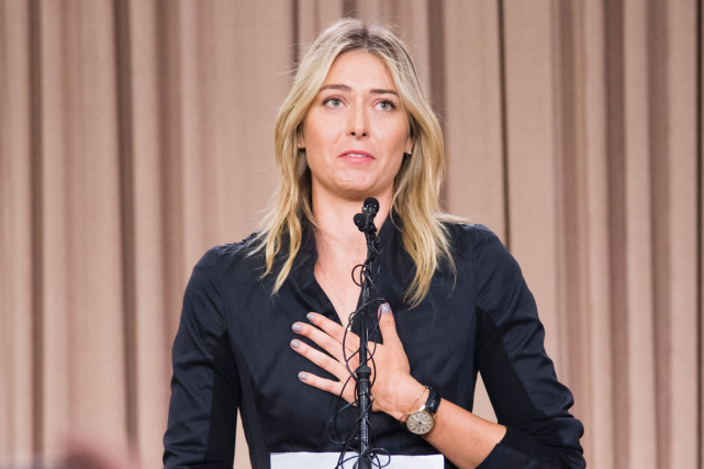 Maria Sharapova a été suspendue deux ans par la... (Photo Robyn Beck, archives AFP)