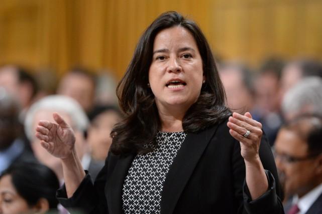 La ministre de la Justice Jody Wilson-Raybould pendant... (PHOTO ADRIAN WYLD, LA PRESSE CANADIENNE)