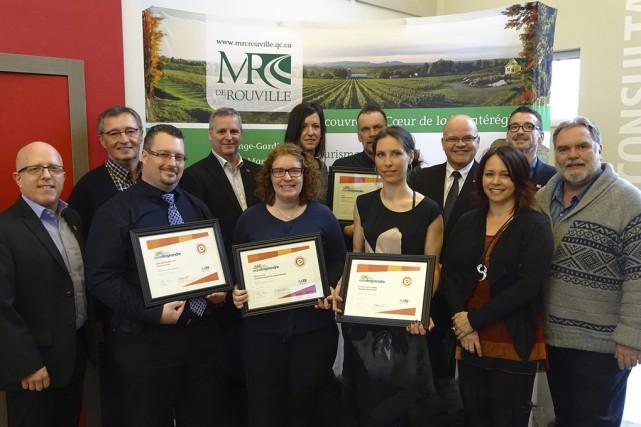 Des entrepreneurs de la MRC de Rouville ont... (fournie par la MRC de Rouville)