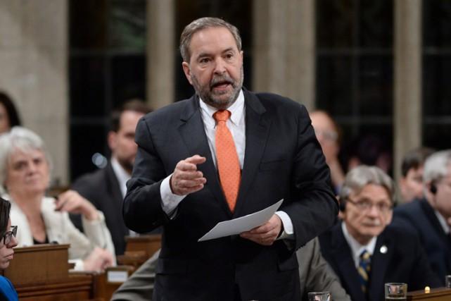 Le chef néo-démocrate a été chassé de son... (PHOTO PC)