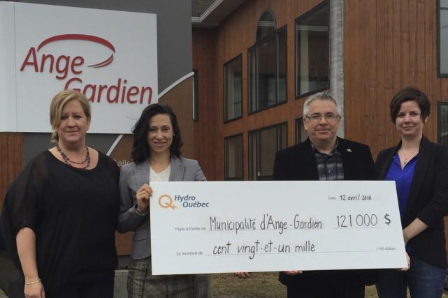La municipalité d'Ange-Gardien vient tout juste de recevoir une aide financière... (photo fournie par Hydro-Québec)