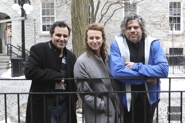 Pierre-Alexandre Fortin, Isabelle Lemme et Sylvain Massé, alias... (Patrick Woodbury, LeDroit)