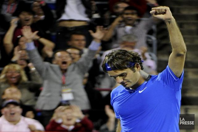 Roger Federer a remporté la victoire au deuxième... (Bernard Brault, archives La Presse)