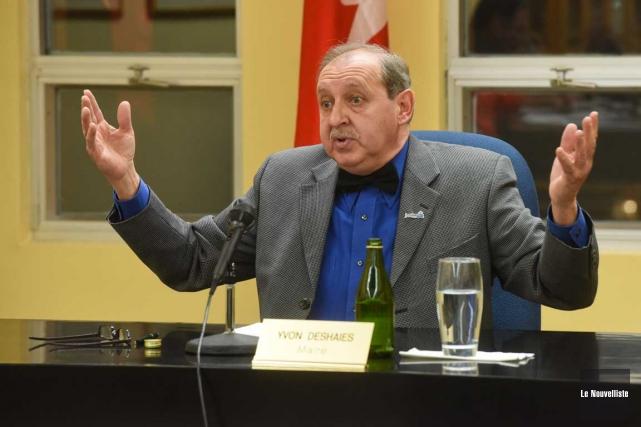 Le maire de Louiseville, Yvon Deshaies, a consenti... (François Gervais, Le Nouvelliste)