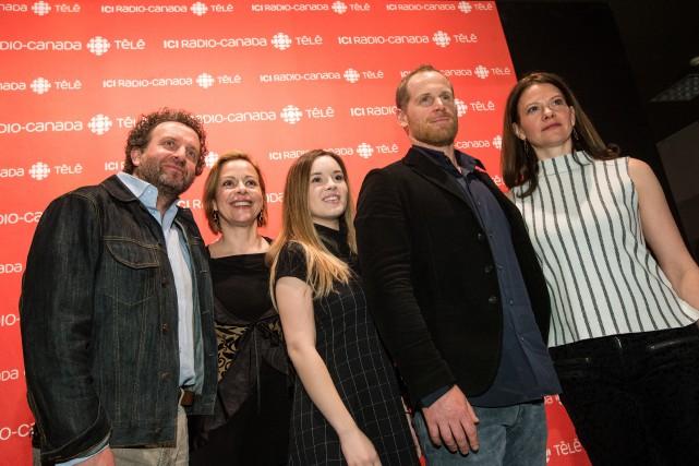 Les principaux artisans de la nouvelle série Feux:Daniel... (PHOTO HUGO-SÉBASTIEN AUBERT, LA PRESSE)